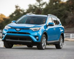 2017-Toyota-Rav4-Hybrid-Limited-front-three-quarter-in-motion-04